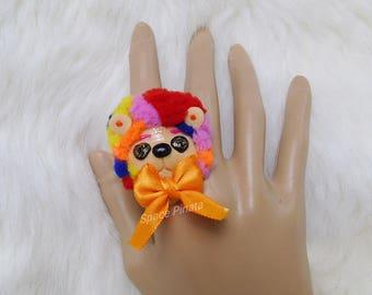 Rainbow Bear Ring