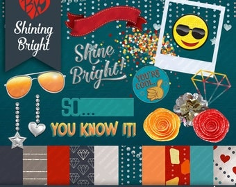 Shining Bright Minikit (CLIPART & PAPERS)