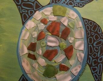 Sea Glass Sea Turtle