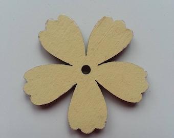 fleur  en bois beige  35mm