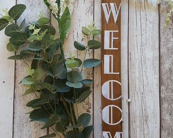 Welcome Wood Sign - Entrance Hall wood sign,  gallery wall wood sign, Kitchen wood sign