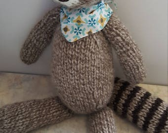 Plush raccoon knit 25 cm