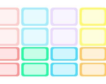 Pastel Half Box and Quarter Box- Planner Stickers