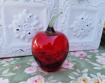 Vintage Glass Apple