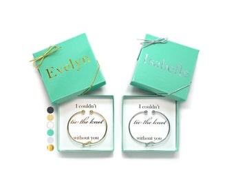 Be My Bridesmaid, Love Knot Bangle, Tied the Knot, Will you be my Maid of Honor Gift, Flower Girl Proposal, Maid of Honor Proposal, Gift Box