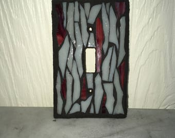 Single Toggle Glass Mosaic Light Switch Cover Plate