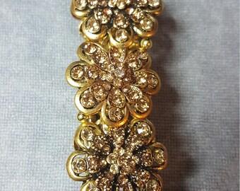 Gold Flower Shaped Bracelet
