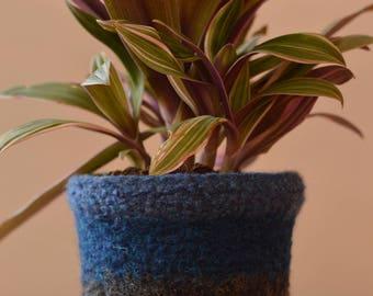 Felted Wool Planter-medium