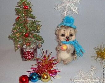 Toy hedgehog. Wool, felt, gift