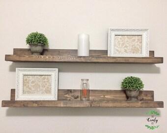Rustic Picture Ledge Shelf