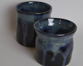 Stoneware cups, cups, mugs, set of 2