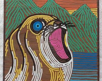 Local Art, Hawaiian Monk Seal, Hawaiian Art, Oahu, Hawaii