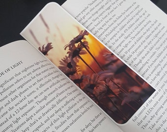 Sunset Daisy Flower Bookmark