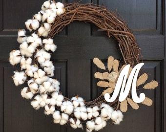 Custom Homemade Cotton Wreaths