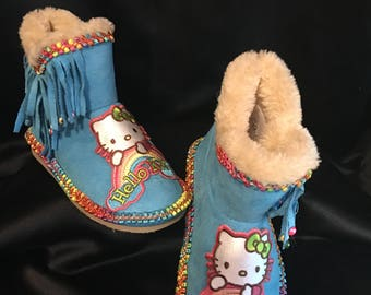Hello Kitty Girl's Boots, Size 9