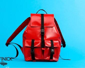 Backpack T1014, Handmade backpack, Travel backpack, Laptop backpack, Vegan backpack, Womens backpack, Mens backpack, Waterproof backpack