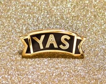 Yas Enamel Pin