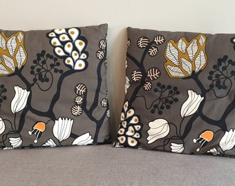 Abstract Flower Accent Pillows
