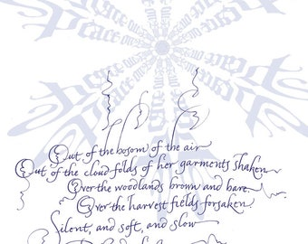 Greeting card with Longfellow text