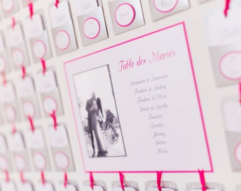 Escort cards table plan