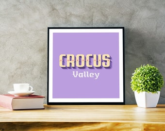 Crocus Valley printable art