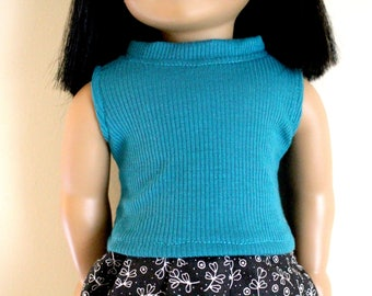 Blue Tank top for 18 inch dolls; fits American Girl