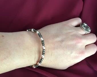 Glass beaded wrap bracelet.