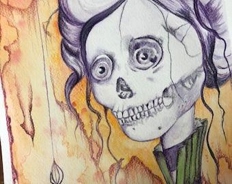 2016 - Drawlloween - Skeleton