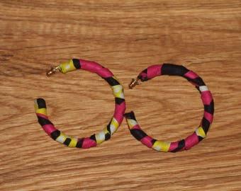 Hoop earrings, earrings, african fabric earrings, ankara earrings, fabric earrings