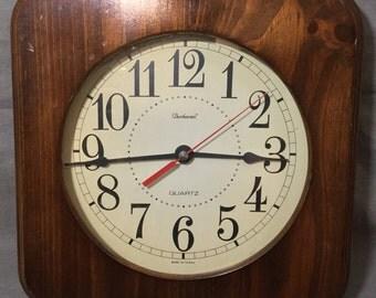 Vintage Dunhaven Square Wall Clock