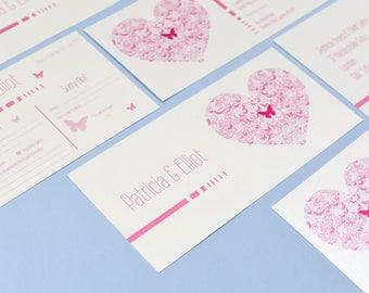 Flutter Pink & White Invitation