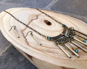 Adornment necklace and earrings-inspired Bohemian