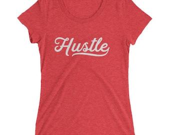 Hustle - Ladies' tri-blend short sleeve t-shirt