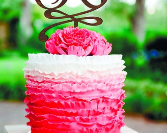 Cake topper R Wedding Cake Topper Initial Cake Topper R Rustic monogram cake topper wood Single Letter Personalised Cake Topper Letter R G
