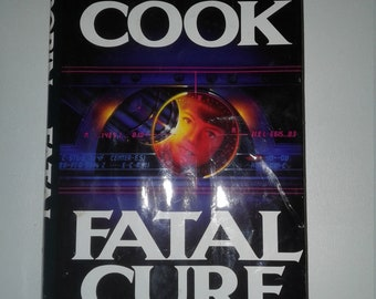SUSPENSE LOVERS - Robin Cook Fatal Cure  Hardcover Thriller Used Book Free Shipping