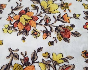 Vintage Fabric, Floral Fabric, 1960s/1970s Fabric