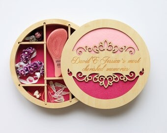 Jewelry storage tray, Jewelry organizer, Gift from aunt,  For goddaughter, Headband holder, Gift-for-girl, 3rd birthday, Keepsake baby box