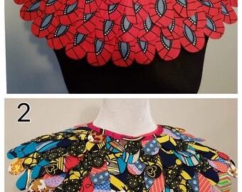 Ankara - Bib necklace / collar in African print