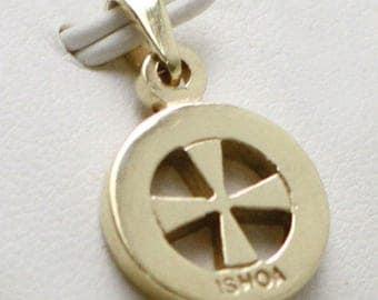 9ct Gold Ishoa Cross Thick