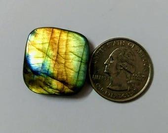 24.32 x 23.30 mm,Cuishon Shape,Attractive Labradorite  /wire wrap stone/Super Shiny/Spectrolite  Cabochon/Semi PreciousGemstone/wire wrapped