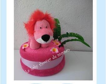"Diaper cake ""my lion rose"""