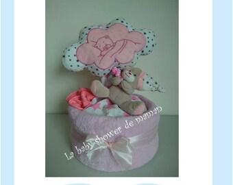 Music musical plush pink soft pink - diaper cake