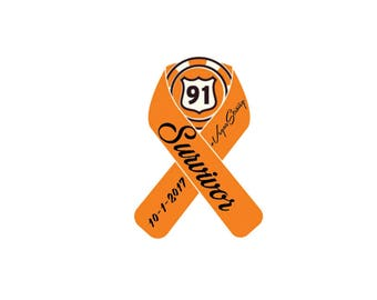 Route 91 Memorial Ribbon Survivor Decal