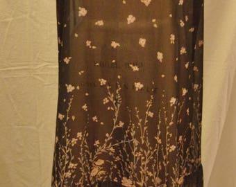 Vintage 80s drop-waist polyester flapper drees xxl