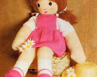 Knitted Doll Pattern, Instant Download.