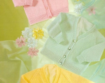 Baby Cardigans, Knitting Pattern, Instant Download.