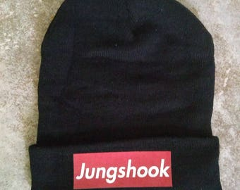 New BTS Beanie Hat Jungkook Black Beanie Hat Jungshook Hat
