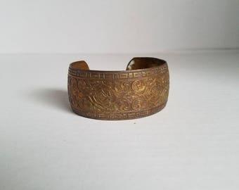 Vintage Brass Cuff Bracelet