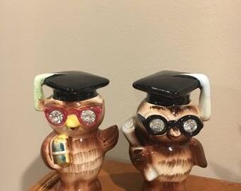 Lefton graduation owl salt and pepper shakers