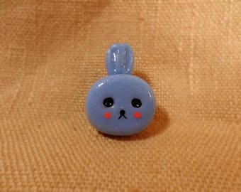 Kawaii Bunny, Cute Kawaii Rabbit, kawaii Rabbit, Rabbit pin, Cute rabbit pin, kawaii bunny jewelry, rabbit jewelry, clay rabbit pin brooch